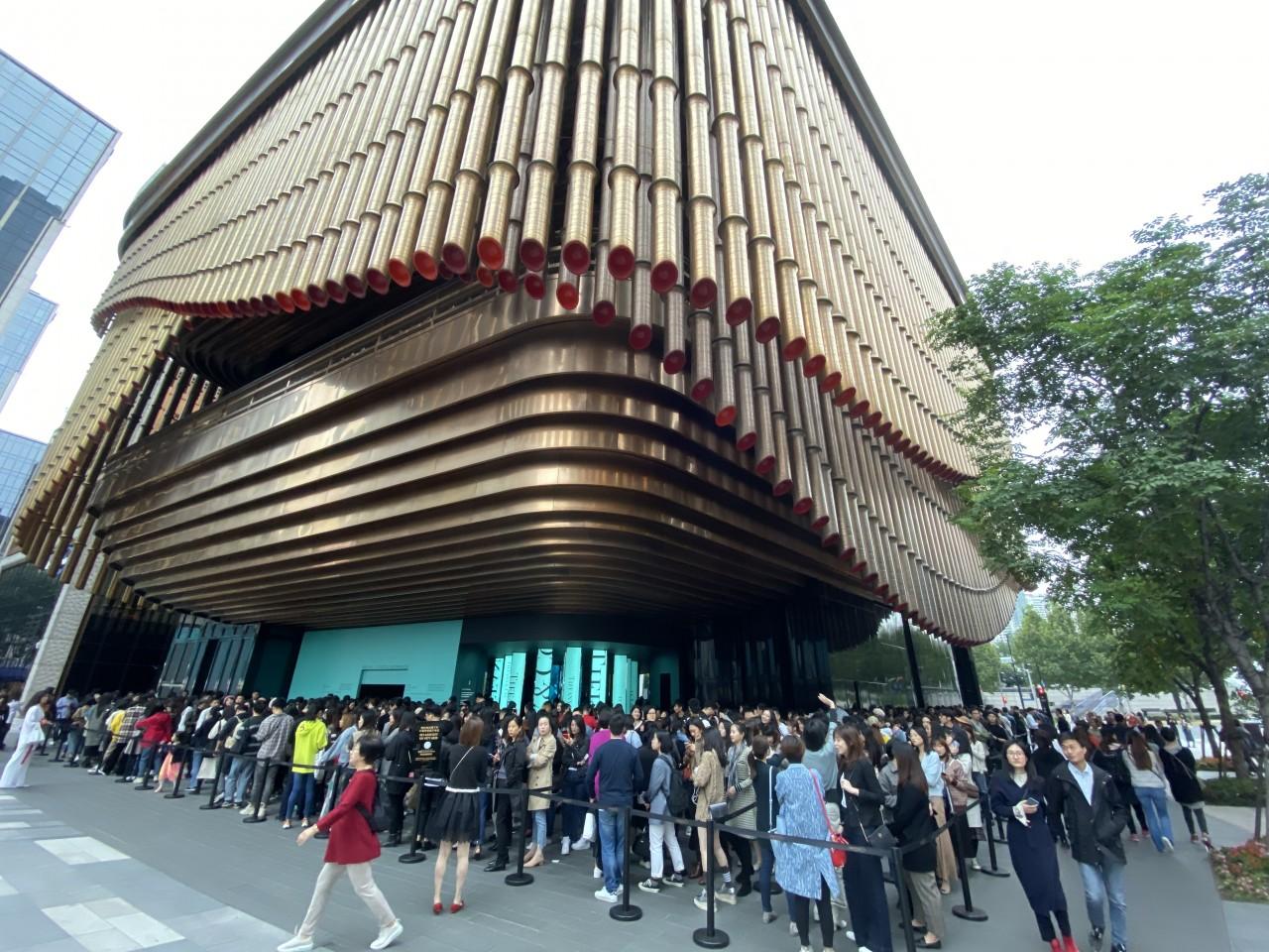 "Tiffany & Co. held its grand exhibition at the Fosun Foundation Shanghai, themed ""Vision & Virtuosity"". (Photo: Yang Danxu)"