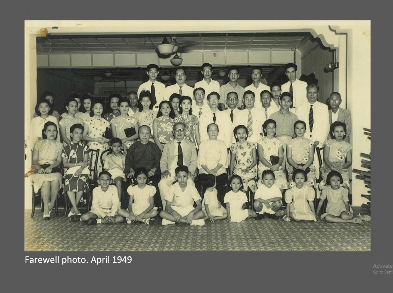 Tan Kah Kee's family. (SPH; Photo provided by Tan Kah Kee's granddaughter, Peggy Tan)