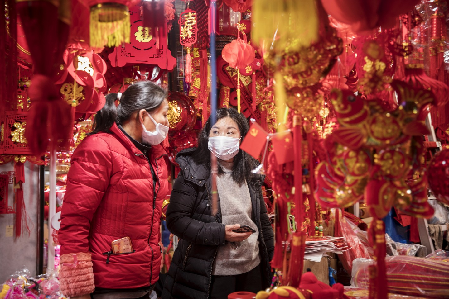 The Chinese New Year is normally a joyous celebration, but it has now been coloured with tension and anxiety due to the Wuhan coronavirus outbreak. (Qilai Shen/Bloomberg)