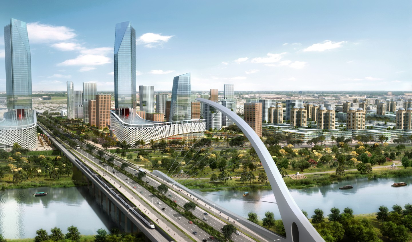 Artist's impression of Sino-Singapore Guangzhou Knowledge City. (ASCENDAS)