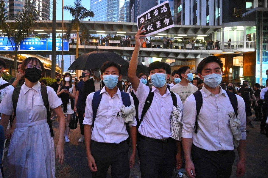 HK students protest