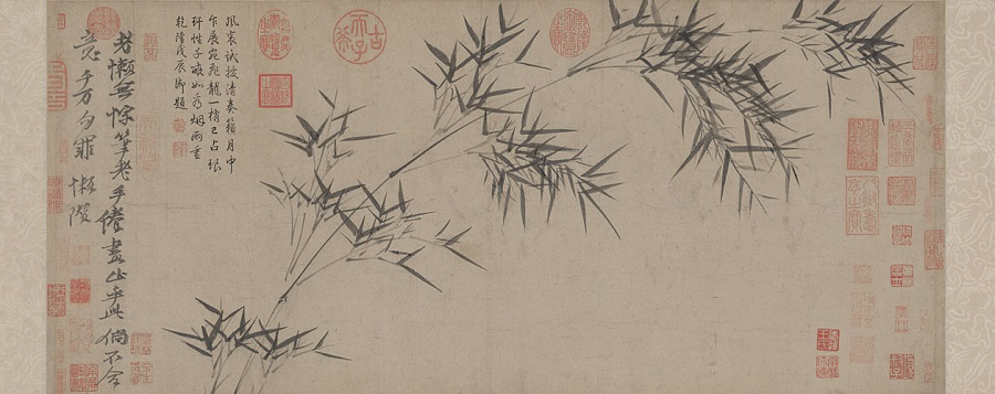 Ni Yunlin, Bamboo (《竹枝图》), The Palace Museum. (Internet)