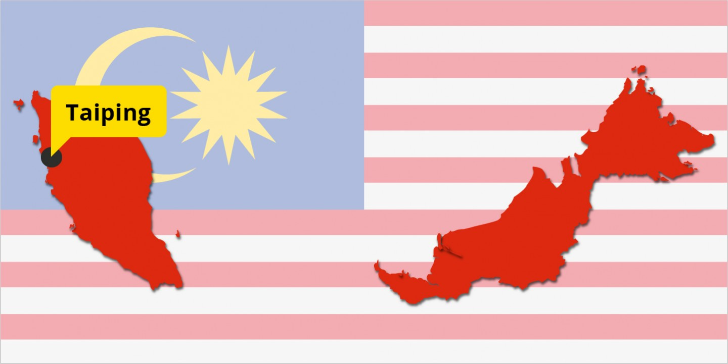 Location of Taiping in Malaysia. (Graphic: Jace Yip)