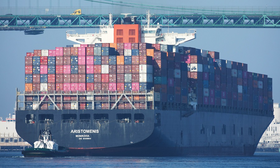 Port Of Los Angeles Officials Blame Tariffs For Drop In Cargo Traffic. (Mario /AFP)