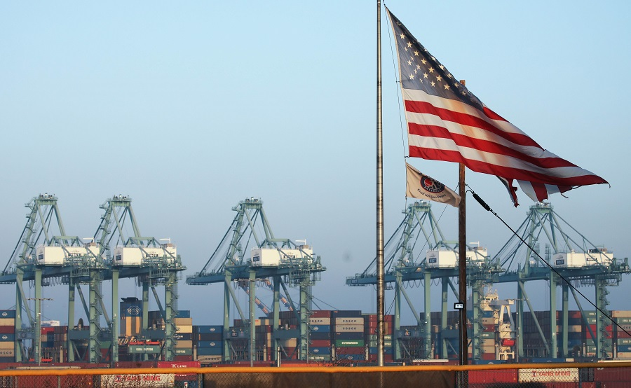 Port of Los Angeles officials said October cargo volume was down 19% this year compared with October 2018 due to tariffs imposed in the U.S.-Chinatradewar. (Getty images/AFP)