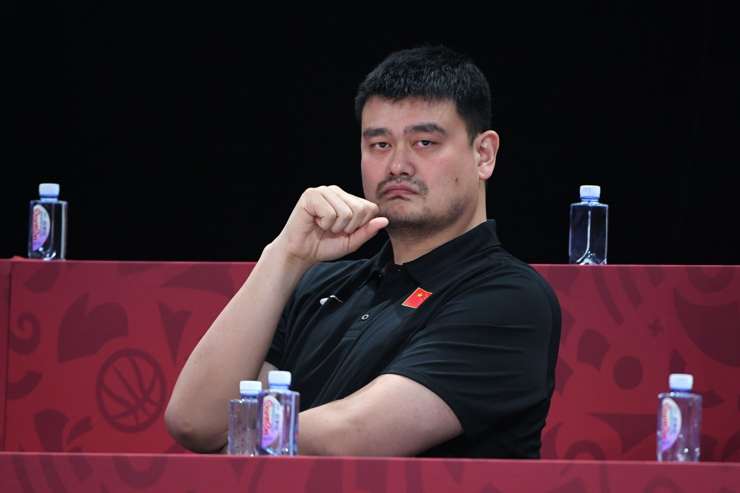 Imagine China as Yao Ming: Yao Ming has already grown up. It is possible to wound him but perhaps too late to curtail or hold back his growth. (AFP)