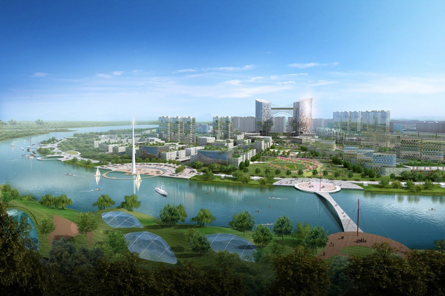 Artist's impression of Tianjin Eco-City in China. The city will create a world-class model, bringing in top-notch expertise, innovative ideas and best practices from Singapore, China and the rest of the world. (Keppel)