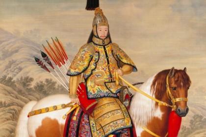 Giuseppe Castiglione, Emperor Qianlong Inspecting Troops (《乾隆皇帝大阅图》), The Palace Museum. (Internet)