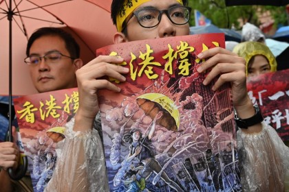 Hong Kong youth protesters think they can count on external support. But can they really? (Sam Yeh/AFP)