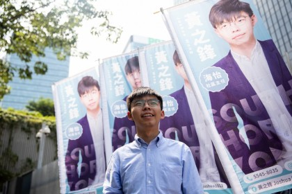 """I do not advocate independence for Hong Kong."" (Kyle Lam / Bloomberg)"